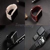 Wholesale Golden Bracelets For Men - Smart watch DZ09 for Android phone with SIM Card camera SMI TF men bluetooth wristwatch bracelet smartwatch phone pk gv18 gt08 gv09 m26