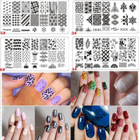 Wholesale Templates For Nail Art - 20 Styles for choose Nail Art Stamp Template Manicure Nail Tools Nail Stamping Plates
