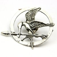 Wholesale Hunger Games Corsages - The Hunger Games Brooches Inspired Mockingjay And Arrow Brooches Pin Corsage Promotion!New Arrival European Hot Movie ZD076
