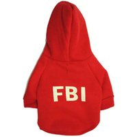 Wholesale Fbi T Shirts - New Arrival FBI Pet Sweater Puppy T Shirt Dog Cat Warm Hoodies Coat Clothes Apparel for Sale Fast Free Shipping