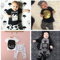 Wholesale Winter Bodysuits For Babies - Baby kids clothes baby boy suit romper bodysuits jump suit outfits clothes 100% cotton many styles for choose 4s l