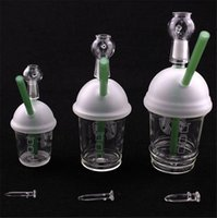 Wholesale Starbucks Cup Price - Cheap price Starbucks cup sandblasted glass bong water pipes hookah concentrate oil rig glass bong glass dome and nail Hookah