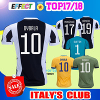Wholesale Italy Home - 2017 New Italy Club soccer jersey 17 18 home away Yellow Blue DYBALA MORATA MARCHISIO MANDZUKIC DANI ALVES 2018 Serie A football shirt