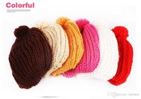 Wholesale Cute Baggy Women - Women Warm Cute Hat Baggy Shape Hot Sales Chunky Cotton Knit Knitted Free Shipping 12 Color For You