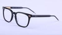 Wholesale Top Brand Optical Glass Frame - THOM Brand eyeglasses Men Women Brand Designer Popular TTB402A Glasses Optical Lens Square Frame Black Tortoise Brown Top Quality With box