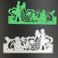 Wholesale wedding stencils - 1 PC Loving Wedding Metal Cutting Dies Stencils DIY Scrapbooking Album Decorative Embossing Paper Cards Sizzix Die Cutting Template