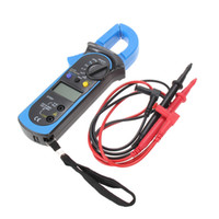 Wholesale Digital Clamp Meter Multimeters - Free Shipping Digital Auto Range Clamp Multimeter Tester Meter DMM AC DC Volt Ohm Digital Clamp Multimeters ST201 order<$18no track