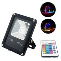 Wholesale Changing Color Led Flood Lights - 10W Color Changing RGB LED Flood Light Color Changing IP65 Waterproof Lamp For Highway Outdoor Wall