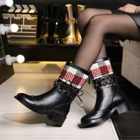 Wholesale L M B Boots - Europe and the United States fashion style zipper L short boots boots with Martin in restoring ancient ways round head thick with real leath