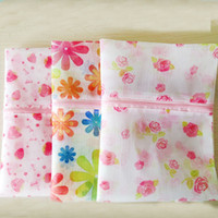 Wholesale New Flower Clothes Bra Underwear Socks Shirts Zipper Washing Laundry Bag Mesh
