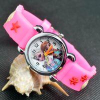 Wholesale Icing Pin - 3D Cartoon Lovely Kids Girls Boys Children Students Ice snow Quartz Wrist Watch Very Popular