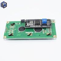 Wholesale Adapter Regulator - Wholesale- TENSTAR ROBOT LCD1602+I2C LCD 1602 module Blue screen PCF8574 IIC I2C LCD1602 Adapter plate