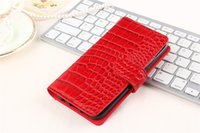 Wholesale Wholesale Cell Phone 3d Rhinestones - 50pcs Luxury Wallet Flip Pu leather Case Cover for iphone 7 4.7inch htc Nexus Marlin Cellphone Case 3D Crocodile Cell Phone Bag