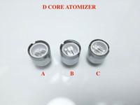Wholesale Vaporizer Pen Double - Triple Quartz Ceramic Rod Coil of D Core Wax Atomizer vaporizer Wax pen Double Core Head Rod D Core RDA E Cigarette Atomizer