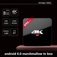 Wholesale Gpu Wholesale - H96 PRO Amlogic S912 Octa core Android 7.1.1 TV Box ARM Mali-T820MP3 GPU 2G 16G double wifi Gigabit 1000LAN Bluetooth4.0