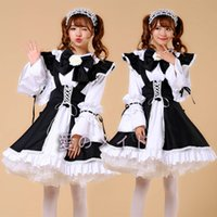 Wholesale Sexiest Outfit Japan - Plus Size Women Sexy Maid Cosplay Costume Servant Classic Ladies Lolita Dress Japan Anime Cafe Work Wear Outfit Dress+Apron+Bowknot S-XXXL
