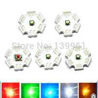 Wholesale-10pcs / lot US originale Cree XPE XP-E 1W 3W LED emettitore bianco rosso verde blu verde blu ambrato su stella di 20mm