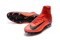 Wholesale Fire Football - HighTop Mens Kids Soccer Shoes fire Mercurial Superfly V FG Boys Football Boots Women Youth Soccer Cleats Cristiano Ronaldo