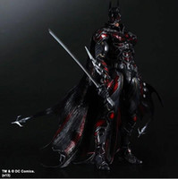 Wholesale Batman Dark Knight Figure - Action Figures PLAY ARTS change Marvel hero Batman The Dark Knight Rises defined red black movable hand Office animation model 28CM PCV