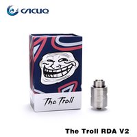 Wholesale Electronic Cigarette V2 Cigs - e cigs vaporizer Authentic Wotofo the troll rda v2 Electronic Cigarette atomizer suit Tesla Invader 3 vape mods eleaf istick