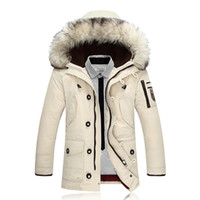 Wholesale Napapijri Clothing - Men Duck Down Coat Winter Jackets Parkas Mens Brand Clothing Rabbit Fur Parka Jackets Male Napapijri Roupas Feminina Down Jacket