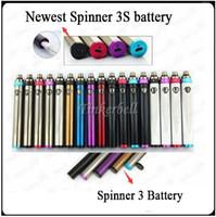 Wholesale Ecig Battery Vv - Top Spinner 3S battery Variable Voltage VV vaporizer vape 1600mah 3.6V-4.8V 510 thread battery Top Twist ecig batteries
