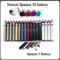 ecig spinners großhandel-Top Spinner 3S Batterie Variable Voltage VV Vaporizer Vape 1600mAh 3.6V-4.8V 510 Thread Batterie Top Twist ecig Batterien