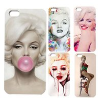 Wholesale Iphone Keep - HOT phone case Retail Stylish Marilyn Monroe Keep Smiling Bubble Gum Protective Hard Cover Case For iPhone 5 5S