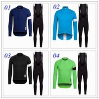 Wholesale Cycling Pants Jersey Set - 2016 Long Sleeve Cycling Jerseys Set Winter Fleece Autumn None Fleece Men Bike Wear Gel Padded Bib Pants Cycling Clothing Ropa Ciclism