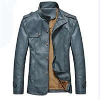 Wholesale Korean Men Jacket Free Shipping - Fall-New winter jacket men leather coat mens genuine leather jackets and coats Korean leather jacket men winter Free shipping