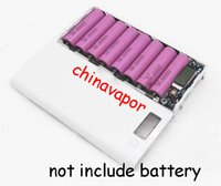 Wholesale Battery Powered Cell Phone Case - 10pcs NEW 18650 rechargeable li-ion Battery Charger LCD DIY 8 Slots Cell Phone 18650 USB Power Bank Box Case External Charger circuit board