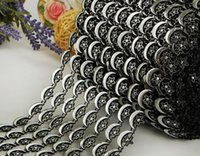 Wholesale Cake Decorations Moon - 10yard 8row Moon&Star Beads Bendable Mesh Wrap Roll Chain Trim For Sewing Apperal Bag Shoes Cap Decoration