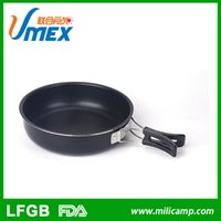 Wholesale Wholesale Aluminum Pans - 2016 Time-limited 50 Cooking Tools 8 Inch Hot Sale Selling Well Factory Price Round Portable Skillet Camping Aluminum Non-stick Frying Pan