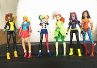 Wholesale Poison Ivy - 2017 New 6pcs set DC Super Hero Girls Batgirl Poison Ivy Bumble Bee Harley Quinn Action figure Doll Toy