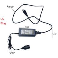 Wholesale car lighter 12v dc for sale - 60W AC V to DC V A Converter Car Cigarette Lighter Socket AC DC Power Supply Charging Adapter