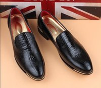 Pumps black shoes small heel - British commercial leisure fashion designer han edition men s shoes white wedding shoes small leather shoes size