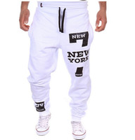 Wholesale Dance Fitness Clothes - Wholesale-Men Dance Baggy Harem Pants Sweat Pants Hip Hop Mens Designer Pants Fitness Swag Sport Jogger Trousers Gym Clothing Plus Size