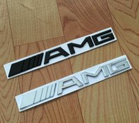 Wholesale Mercedes E Class - High quality Metal Silver Chrome Black 3M AMG Decal Sticker Logo Emblem Car Badges for Mercedes CL GL SL ML A B C E S class Car st