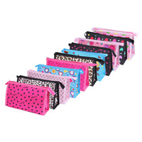 Wholesale Leopard Bags Wholesale - 2016 cheap 14 colors simple zip closure wash organizer holder women cosmetic makeup bag wholesale