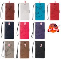 Wholesale google g resale online - Flower Butterfly Leather Wallet Pouch Case For Sony Ericsson X XA LG K8 Stylus LS775 G Stylo Google Nexus X Strap Card Stand TPU Bag Skin