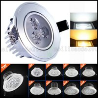 Wholesale 12 led downlight - LED 3 5 7 9 12 15 18W Spotlight Recessed Ceiling Light Downlight Spot Lamp 85-265V Sales LLWA206