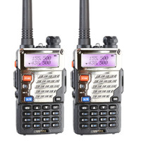 Atacado-Dual Band Two Way Radio Baofeng UV-5RE Walkie Talkie Pofung UV 5RE 5W 128CH UHF VHF FM VOX UV5RE dupla tela Rádio Comunicator