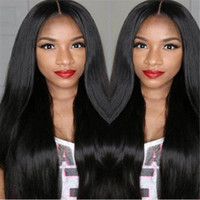 Wholesale Malaysian 24 - Pre Plucked Lace Front Human Hair Wigs Malaysian Straight Hair Wig With Baby Hair8-24 Inch Free Shipping
