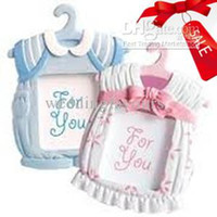 Wholesale Baby Themed Frame - Free Shipping !40pcs lot,Cute Baby Themed Photo Frame favors Boy girl,baby birtherday favors
