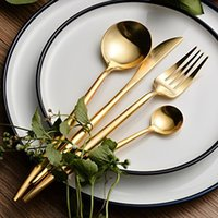 Wholesale Hotel Flatware - modern Customized Stainless Steel Flatware Set with Fork Spoons Knife Teaspoon for Home Kitchen Restaurant Hotel