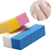 Wholesale 1PC Nail Buffer Four Side Sponge Nail Files Sanding Block Colors Professional Grinding Nail Art Manicure Tools
