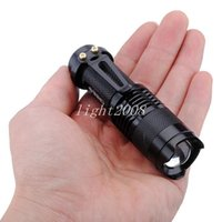Vente en gros - UltraFire Mini Flashlight 300LM CREE Q5 LED Zoom In / Out Torch 3-Mode 14500