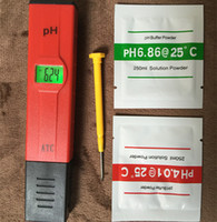 probador de laboratorio al por mayor-Venta caliente Digital LED PH Meter Pocket Pen monitor de calidad del agua Probador 0-14 medida para acuario o laboratorio