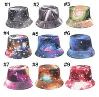 Wholesale Colorful Bucket Hats - 2016 new arrival women colorful printed hat 21 STYLE Spring summer travel sun visor sun hat Ms. bucket hats E194