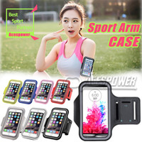 Wholesale Sports Armband Galaxy - For Iphone 7 Case Iphone 6s Plus Waterproof Sports Running Arm Case Armband Running Bag For Samsung Galaxy S8 Plus Arm Bag